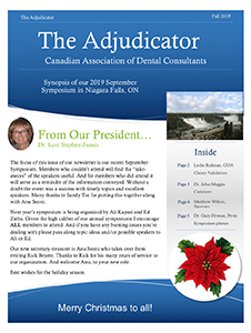 Front Page of The Adjudicator 2019 Spring Newsletter